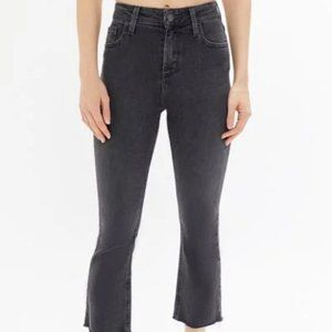 BDG High-Rise Cropped Kick Flare Jean Washed Black